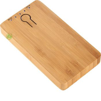 bamboe powerbank bedrukken the notepad factory
