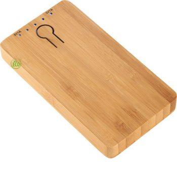 bamboe powerbank bedrukken the notepad factory