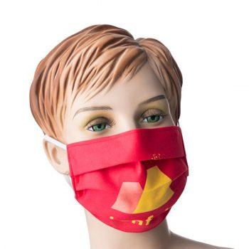 mondkapje met bedrukking - stof