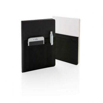Luxe notitieboek met opbergvakken