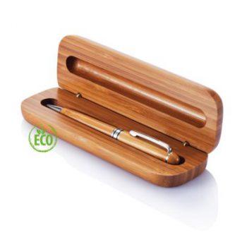 bamboe balpen in box