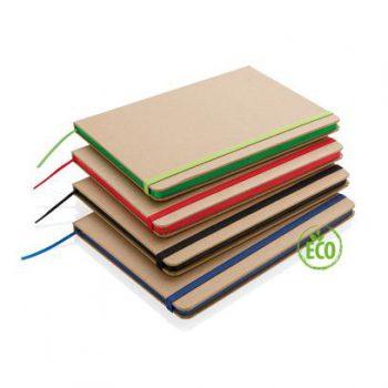 kraftpapieren notitieboek in 4 kleuren