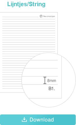 Ncode papier lijntjes portrait