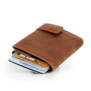 SecWal kaarthouder met portemonnee_leder_cognac bruin_11