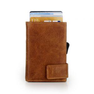 SecWal kaarthouder met portemonnee_leder_cognac bruin_2