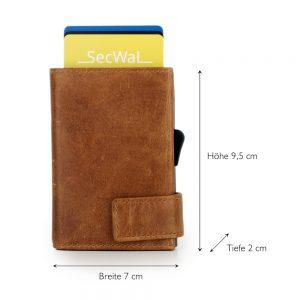 SecWal kaarthouder met portemonnee_leder_cognac bruin_5