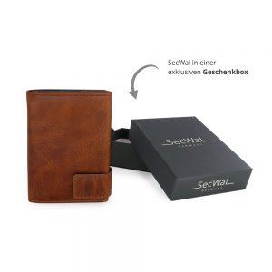 SecWal kaarthouder met portemonnee_leder_cognac bruin_7