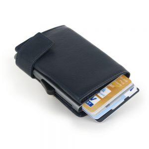 SecWal kaarthouder met portemonnee_leder_donkerblauw_3