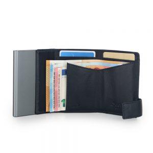 SecWal kaarthouder met portemonnee_leder_donkerblauw_4
