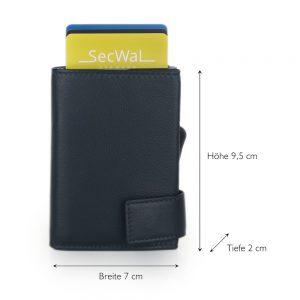 SecWal kaarthouder met portemonnee_leder_donkerblauw_5