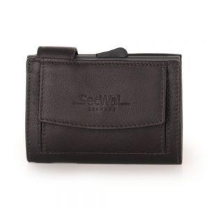 SecWal kaarthouder met portemonnee_leder_donkerbruin