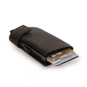 SecWal kaarthouder met portemonnee_leder_donkerbruin_11