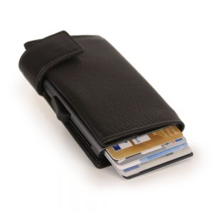 SecWal kaarthouder met portemonnee_leder_donkerbruin_3