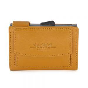 SecWal kaarthouder met portemonnee_leder_geel