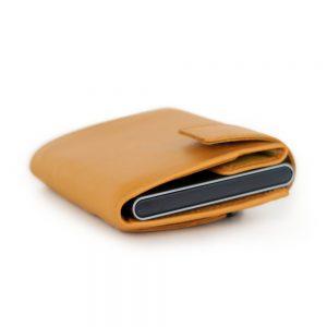 SecWal kaarthouder met portemonnee_leder_geel_10