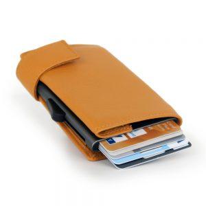 SecWal kaarthouder met portemonnee_leder_geel_3