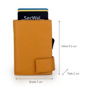 SecWal kaarthouder met portemonnee_leder_geel_5