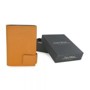 SecWal kaarthouder met portemonnee_leder_geel_7
