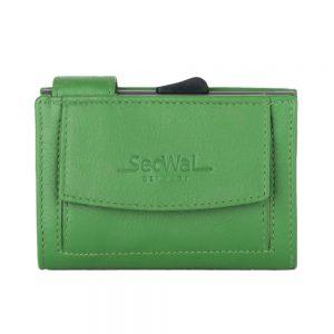 SecWal kaarthouder met portemonnee_leder_groen