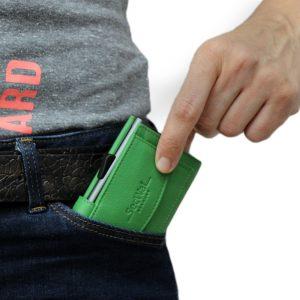SecWal kaarthouder met portemonnee_leder_groen_10