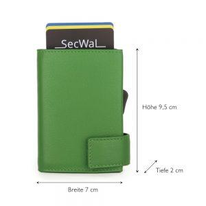 SecWal kaarthouder met portemonnee_leder_groen_5