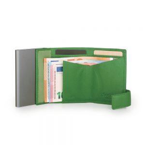 SecWal kaarthouder met portemonnee_leder_groen_6