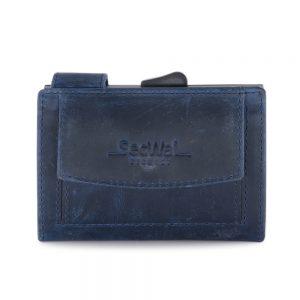 SecWal kaarthouder met portemonnee_leder_hunter blue