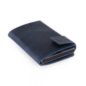 SecWal kaarthouder met portemonnee_leder_hunter blue_11