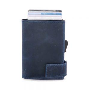 SecWal kaarthouder met portemonnee_leder_hunter blue_2