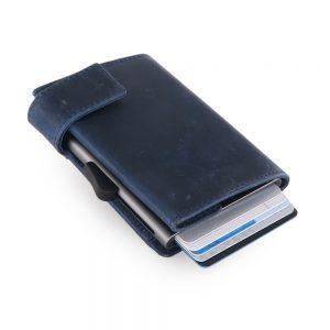 SecWal kaarthouder met portemonnee_leder_hunter blue_3