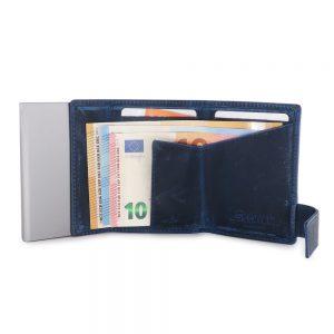 SecWal kaarthouder met portemonnee_leder_hunter blue_4