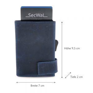 SecWal kaarthouder met portemonnee_leder_hunter blue_5