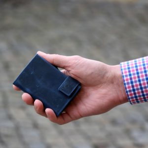 SecWal kaarthouder met portemonnee_leder_hunter blue_8