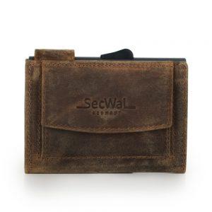 SecWal kaarthouder met portemonnee_leder_hunter brown