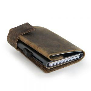 SecWal kaarthouder met portemonnee_leder_hunter brown_10