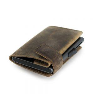 SecWal kaarthouder met portemonnee_leder_hunter brown_11