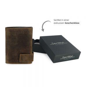 SecWal kaarthouder met portemonnee_leder_hunter brown_7