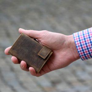 SecWal kaarthouder met portemonnee_leder_hunter brown_8