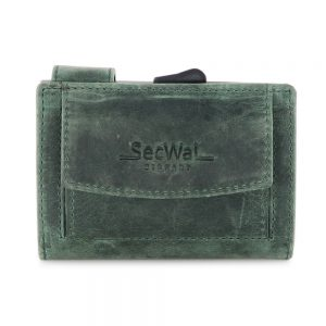 SecWal kaarthouder met portemonnee_leder_hunter green
