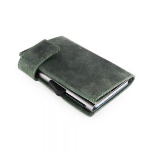 SecWal kaarthouder met portemonnee_leder_hunter green_11