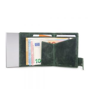 SecWal kaarthouder met portemonnee_leder_hunter green_4