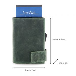 SecWal kaarthouder met portemonnee_leder_hunter green_5
