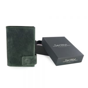 SecWal kaarthouder met portemonnee_leder_hunter green_7