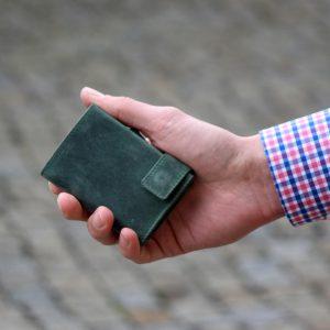 SecWal kaarthouder met portemonnee_leder_hunter green_8