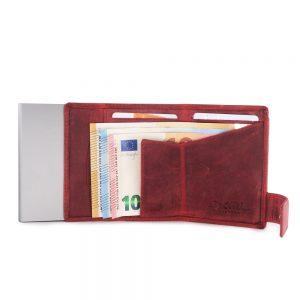 SecWal kaarthouder met portemonnee_leder_hunter red_4