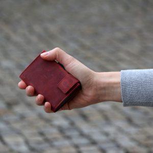 SecWal kaarthouder met portemonnee_leder_hunter red_8
