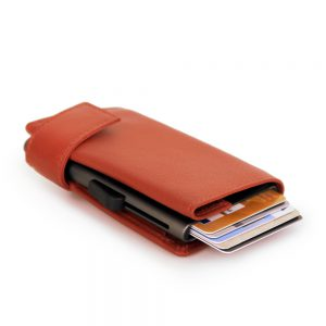 SecWal kaarthouder met portemonnee_leder_oranje_10