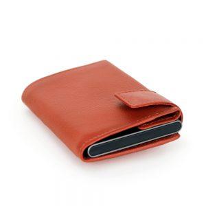 SecWal kaarthouder met portemonnee_leder_oranje_11