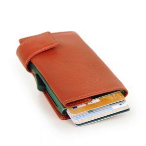 SecWal kaarthouder met portemonnee_leder_oranje_3