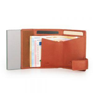 SecWal kaarthouder met portemonnee_leder_oranje_4